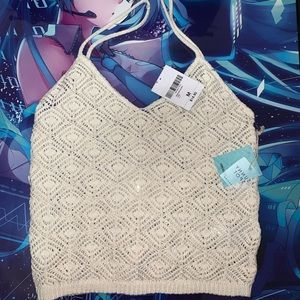 Woven forever 21 crop top